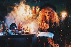 wicca V (AzureFantoccini) Tags: bjd doll abjd balljointeddoll granado ozin5 emon eva wicca forest magic witch witchcraft dollroom miniature diorama october halloween creepy