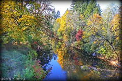 Fall in the coastal mountains.... (Garry's lens....) Tags: fall autumn beauty nature outdoors colorful pretty river girl boy swim sports picmonkey