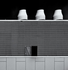 Industrialscape  #  62  ... ; (c)rebfoto (rebfoto ...) Tags: rebfoto industrialscape monochrome chimneys structure