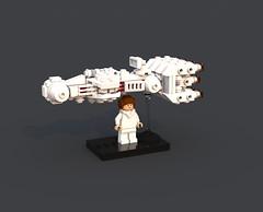 Leia's Tantive IV CR-90 Corellian Corvette Blockade Runner (Miro78) Tags: tantive iv lego moc blockade runner cr90