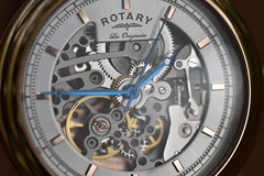 Rotary Automatic Skeleton Watch - GS90505/06 (Mikon Walters) Tags: uk britain england watch face wristwatch time timepiece piece clock ticking hands rotary skeleton swiss made see through automatic gs9050506 tradition les originales nikon d5600 sigma 105mm macro photography internal workings cogs gears wind winding seconds minutes hours