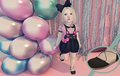 Purrfectly Adorable (Emery/Teagan Parker) Tags: tiptoes lulabelle dollhouse paperdamsels tram roselline thimble uber bellybean poses kitty cat sandals stardust bow cute sweet adorable bebebody toddleedoohead fun halloween fall sl secondlife