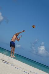 Varadero (Sean Sweeney, UK) Tags: nikon dslr d750 varadero cuba caribbean island iberostar hotel view travel photography photo beach sea sport volleyball ball jump blue