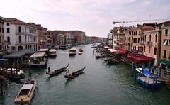 Venice - River Grande (One more shot Rog) Tags: venice italy northernitaly venetian gondola gondolier boat boats rialtobridge stmarkssquare onemoreshotrog bridge grandecanal rialto canal canals river