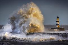 Seaham Harbour, Co Durham (DM Allan) Tags: seaham harbour durham coast stormy lighthouse waves weather seascape