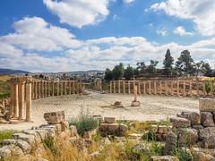 LR Jordan 2017-4240295 (hunbille) Tags: jordan jerash roman city ovalplaza pillar templeofzeus temple zeus oval plaza
