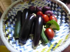 Vegetables for lunch (prondis_in_kenya) Tags: kenya nairobi colddryseason kuvukadaraja team visit cmsireland tujisaidie school vegetable lunch cook aubergine carrot tomato courgette pepper kayole udp urbandevelopmentprogramme