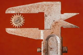 Old rusty vernier caliper