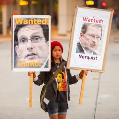 Wanted Cantor, Wanted Norquist (Thomas Hawk) Tags: america california ericcantor grovernorquist photowalk sjphoto2011 sanjose southbay usa unitedstates unitedstatesofamerica protest fav10