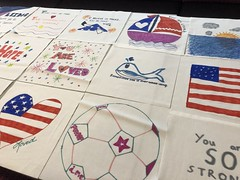 2018_T4T_DC United Leidos Event 11 (TAPSOrg) Tags: taps tragedyassistanceprogramforsurvivors teams4taps dcunited soccer mls leidos sponsor arlingtonva hq 2018 military indoor horizontal detail closeup quilt drawing art
