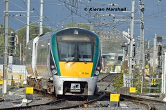 22050 departs Connolly, 18/9/18 (hurricanemk1c) Tags: railways railway train trains irish rail irishrail iarnród éireann iarnródéireann 2018 22000 rotem icr rok 3pce 22050 1659grandcanaldockhazelhatchandcelbridge dublin connolly