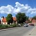 Olsztynek - Były kościół ewangelicki i zamek przy rynku