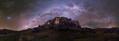 Castle of magic (robjdickinson) Tags: mountain landscape rock sky astronomy outerspace night outdoors space universe galaxy atmosphere milkyway noperson geologicalphenomenon hillside darkness astronomicalobject dark cloud light heroworkshops rjdlandscapes