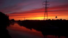 Dawn colours,daybreak. (Hedgeman2006) Tags: dawn daybreak earlymorning twilight sunrise nottingham pylon sky water