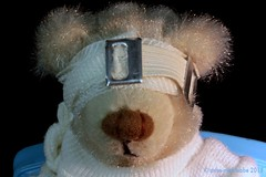 REMEDY FOR SHORTSHIGHTNESS || REMEDIE TEGEN KORTZICHTIGHEID (Anne-Miek Bibbe) Tags: macromonday remedy remedie shortsightedness macro happymacromonday bear teddybear beertje teddybeer beer speelgoedbeer nounours minibeer minibear cure bandage verband geneesmiddel canoneos700d canoneosrebelt5idslr annemiekbibbe bibbe nederland 2018 bijziendheid myopie