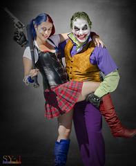 Costume - Harley Quinn & Joker (sy-jphoto) Tags: costume vilain harley quinn joker deguisement montage