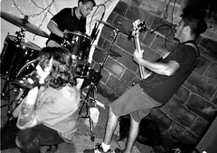 2018-10-15-0001 (fille_ennuyeuse) Tags: big zit chicago punk hardcore bands 35mm black white film ilford delta 400 delta400 analog photography normal records kevin joe eric kahler bored straight tenement tom amos coltranes animal sacrifice gas rag albion house riverwest milwaukee jj spencer