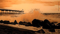 The Sea (aRtphotojart) Tags: sea selective orange