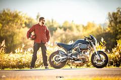 A guy and his bike (em-si) Tags: villach kärnten carinthia austria österreich bike motorrad maschine motorbike shooting herbst autumn speed faakersee nikond800 samyang13520