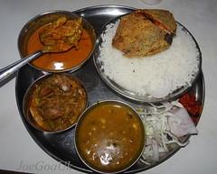 Fish Curry rice Thali (Joegoaukfishcurry2) Tags: joegoauk goa fish rice rego ktc panaji panjim