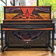 Where the Music Matters (Chuck Pacific AKA Chuck Tofu) Tags: kexp radiostation piano artpiano paintedpiano gatheringspace seattle hss happysliderssunday lowerqueenanne wherethemusicmatters