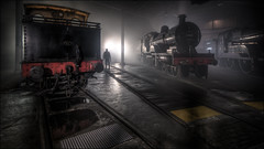 Barrow Hill Roundhouse 4 (Darwinsgift) Tags: barrow hill roundhouse trains locomotives nikkor 19mm f4 pc e tilt shift hdr photomatix steam interior shed