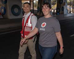 Go Funai and Nikki Rowe in parade (American Red Cross of Silicon Valley) Tags: americanredcross siliconvalleychapter veteransdayparade sanjose markbutler