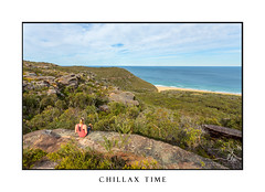 Weekend time, relaxing on a rocky ledge near the ocean (sugarbellaleah) Tags: relaxing woman female people rock ledge cliff gully sea ocean views scenic centralcoast wilderness nationalpark boxhead outdoor tranquil serene wellbeing wellness sitting sunny beach blonde nature naturalbeauty idyllic australia person active chillax thisisaustralia day daytime weekend chillingout