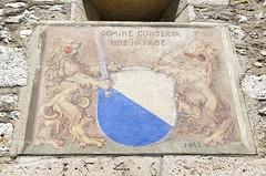 Schloss Laufen beim Rheinfall ZH 13.7.2018 2361 (orangevolvobusdriver4u) Tags: 2018 archiv2018 rheinfall schweiz suisse switzerland schlosslaufen schloss laufen kantonzürich wandmalerei wallpainting wappen laufenamrheinfall