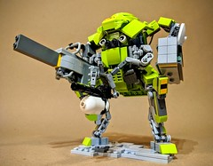 """Power Swine"" assault mech (vikingforhire) Tags: lego legomech military future scifi weapon weaponized angrybirds"
