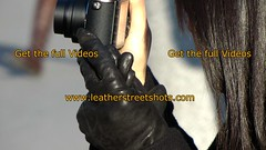 Asian chinese girl in leather gloves (girl leather pants) Tags: asian chinese girl leather gloves