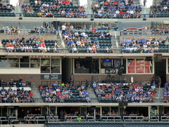 Citi Field, 08/26/18 (NYM v. WAS): the broadcast booths as seen in the bottom of the 6th inning - photo taken in back of section 140 (IMG_3050a) (Gary Dunaier) Tags: baseball stadiums stadia ballparks mets newyorkmets flushing queens newyorkcity queenscounty queensboro queensborough citifield