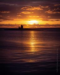 Tower of Refuge sunrise. (cabmanstu) Tags: isleofman douglas bay towerofrefuge sunrise silhouette sea coast