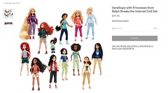 Vanellope with Princesses from Ralph Breaks the Internet Doll Set - US ShopDisney Product Page - Sold Out - 2018-10-21 (drj1828) Tags: wreckitralph2 ralphbreakstheinternet 2018 merchandise disneystore purchase vanellopevonschweetz productimage productpage limitededition princess tiana snowwhite ariel casual comfy productinformation rapunzel vanellope moana cinderella mulan merida aurora pocahontas jasmine belle poseable mini doll 6inch soldout