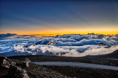 Haleakalā Sunrise at the Summit (Bob.Z) Tags: haleakalā hawaii maui kula nationalpark usa unitedstates volcano crater sunrise sunup morning clouds mountain