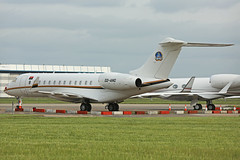 D2-ANG Bombardier BD700 Global 6000 Stansted 16th May 2018 (michael_hibbins) Tags: d2ang bombardier bd700 global 6000 stansted 16th may 2018 aircraft aeroplane aviation aerospace airplane air aero airport airports civil corporate executive private d2 angola african africa