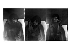 you make me safe [come here] (lilymacnab) Tags: safe wanted love heartbreak comehere loss lost broken breaking depressed sad blood halloween spooky contrast shadow blackwhite blackandwhite film photo diptych