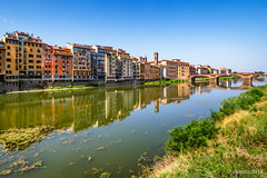 Riverside Reflections (orgazmo) Tags: rivers arno landscapes reflections florence firenze italy italia tuscany toscana olympus omd em1mk2 panasonic leica micro43s leica15mmf17summilux m43s cityscapes