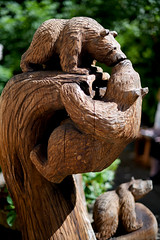 Anything For Your Kiss! (Anthony Mark Images) Tags: animals bears brownbears akiss kissing sweet cute lovely bearcarving woodcarving creekst ketchikan alaska art usa 49thstate nikon d850 adorable