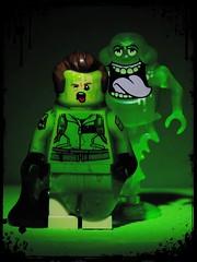 He Slimed Me (LegoKlyph) Tags: lego custom brick block build slime ghostbusters ghosts movie cartoon cult classic venkman green messy funny dark halloween