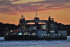 Woolwich Ferry sunset (7) @ Gallions Reach 27-09-18 (AJBC_1) Tags: riverthames ship boat vessel newham londonboroughofnewham eastlondon london england unitedkingdom uk shipsinpictures transportation transport dlrblog ©ajc ferry woolwichferry woolwichreach woolwich ferryboat carferry ajbc1 johnburns northwoolwich gallionsreach nikond3200 sunset dusk orangesky