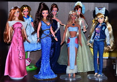 Disney Collection (Lindi Dragon) Tags: doll disney disneyprincess disneystore mattel giselle megara alice anastasia kida