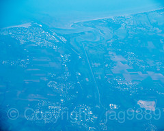 Caen on the Orne River, Normandy, France (jag9889) Tags: 2018 20181009 aerialview caen europe fr fluss france frankreich landscape normandie normandy ocean outdoor river sky wasser water waterway jag9889