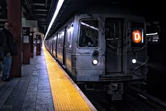 34th St Subway Station, New York, USA (KSAG Photography) Tags: railway railroad subway publictransport transport train newyork newyorkcity city urban shadow moody nikon 35mm october 2018 america usa unitedstates northamerica