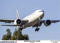 F-GSPM (juan_macerOK) Tags: aircraft airport aeronave airline avion arriving aviation arrival takeoff airplane airlines boeing b777 cabinademando cielo avión airfrance france ezeiza argentina fgspm
