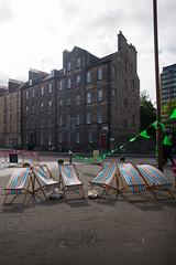2 and 4 Buccleuch Street, Edinburgh (David_Leicafan) Tags: 24mmelmaritasph edinburgh tenement bunting deckchair gable georgian