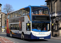 15680 PX10 ETO 10-2018 (Cumberland Patriot) Tags: stagecoach north west england cumbria cumberland motor services cms morecambe white lund depot scania n230ud adl alexander dennis ltd enviro 400 e400 15680 px10eto low floor double decker bus derv diesel engine road vehicle lancaster route service