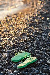 Finian O'Flipflop (jah32) Tags: flipflops green beach beaches portbruce ontario canada lakeerie lake lakes greatlakes thegreatlakes sunset reflections reflection light