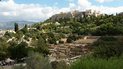 Ancient Agora and Acropolis in Athens (sakarip) Tags: sakarip agora acropolis ancient scenery athens landscape