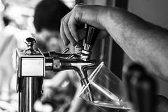 On tap (marktmcn) Tags: beer tap pump bar serving chrome shiny arm hand depth dof blackandwhite monochrome d610